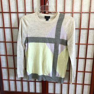 "J. Crew Cashmere Pastel ""Windowpane"" Sweater"